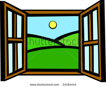 Open windowr clipart clipart suggest for Window design cartoon