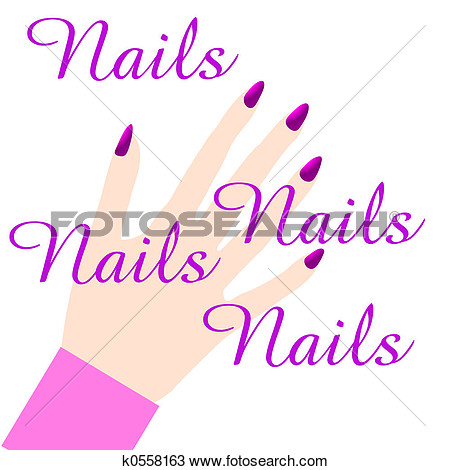 Pink Manicure Sign Illustration On White Poster Clip Art