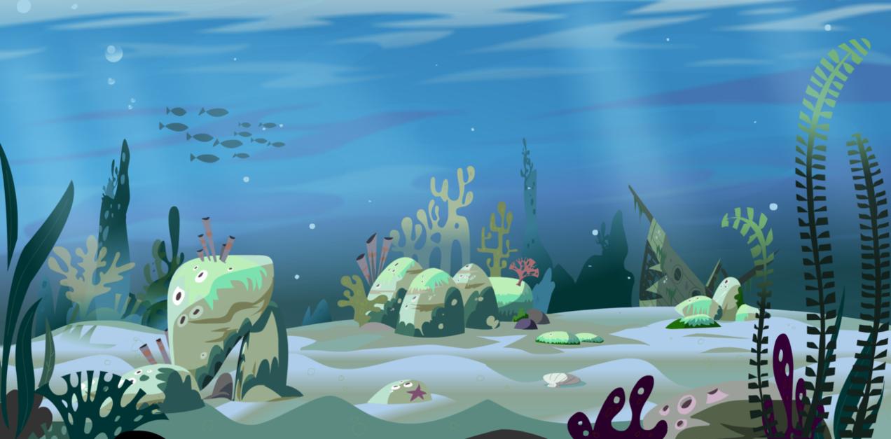 Underwater ocean plants clipart