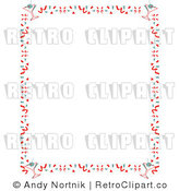 Royalty Free Vector Clip Art Of A Retro Stationery Background Border