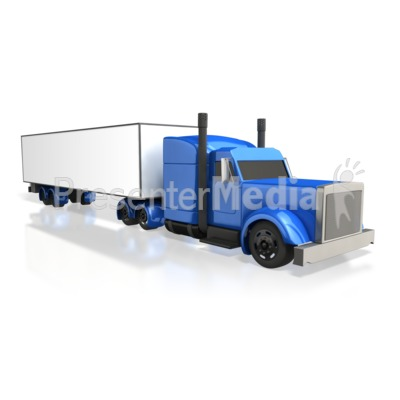 Semi Truck Perspective   Presentation Clipart   Great Clipart For