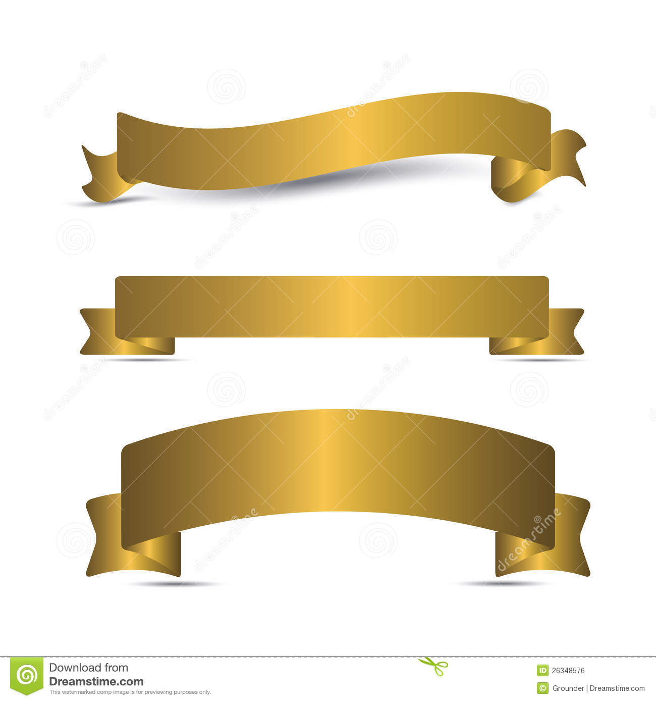 Transparent Gold Ribbon Banner Clip Art