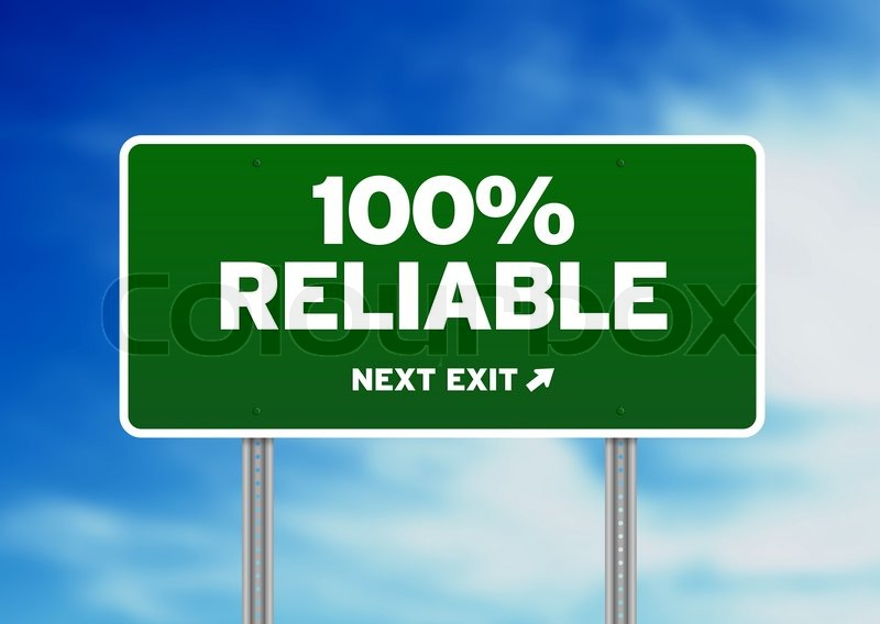 100  Reliable Road Sign   Stock Photo   Colourbox