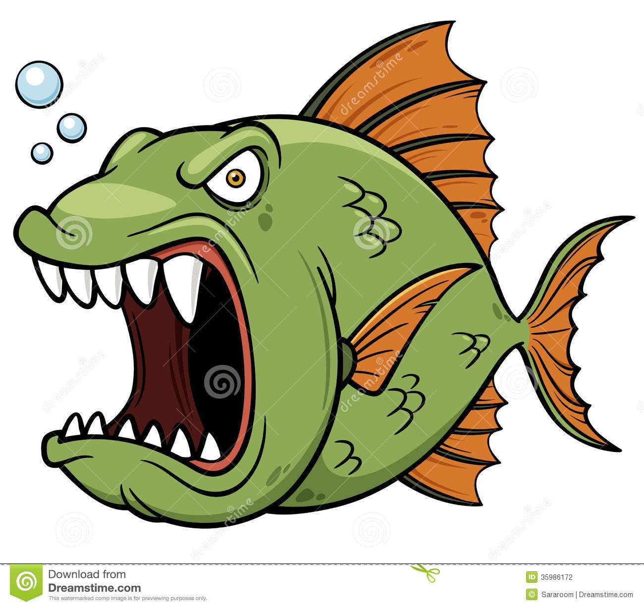 Angry Fish Clipart Clipart Suggest