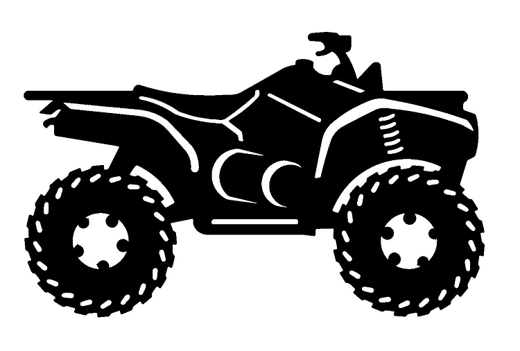 Four Wheeler Clip Art : Atv black and white clipart suggest
