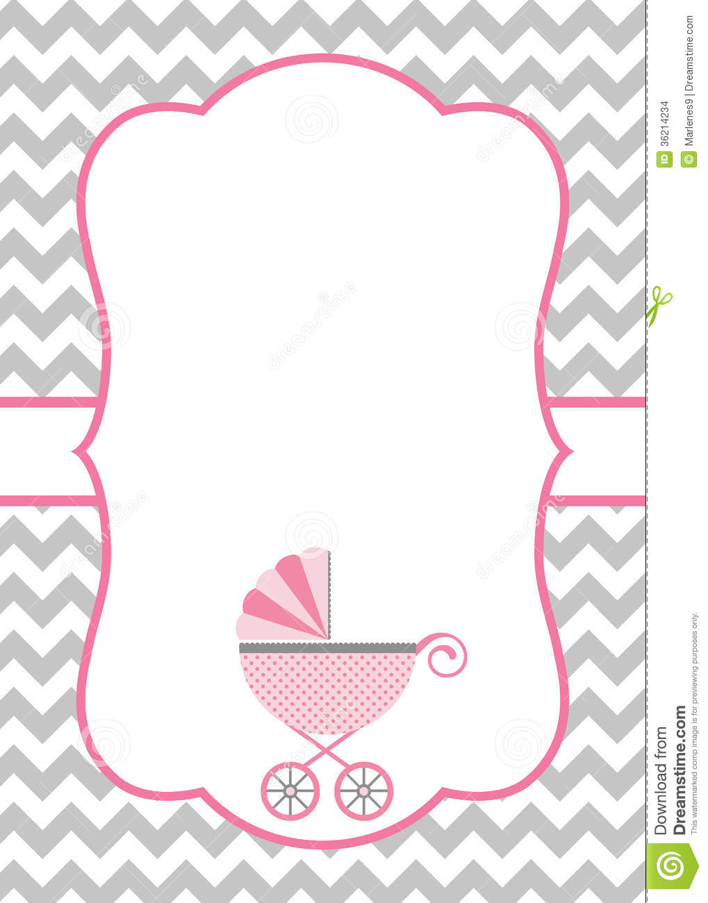 baby rattle template baby shower pink template card