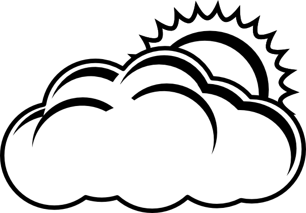 Cloudy Bw Clip Art At Clker Com   Vector Clip Art Online Royalty Free