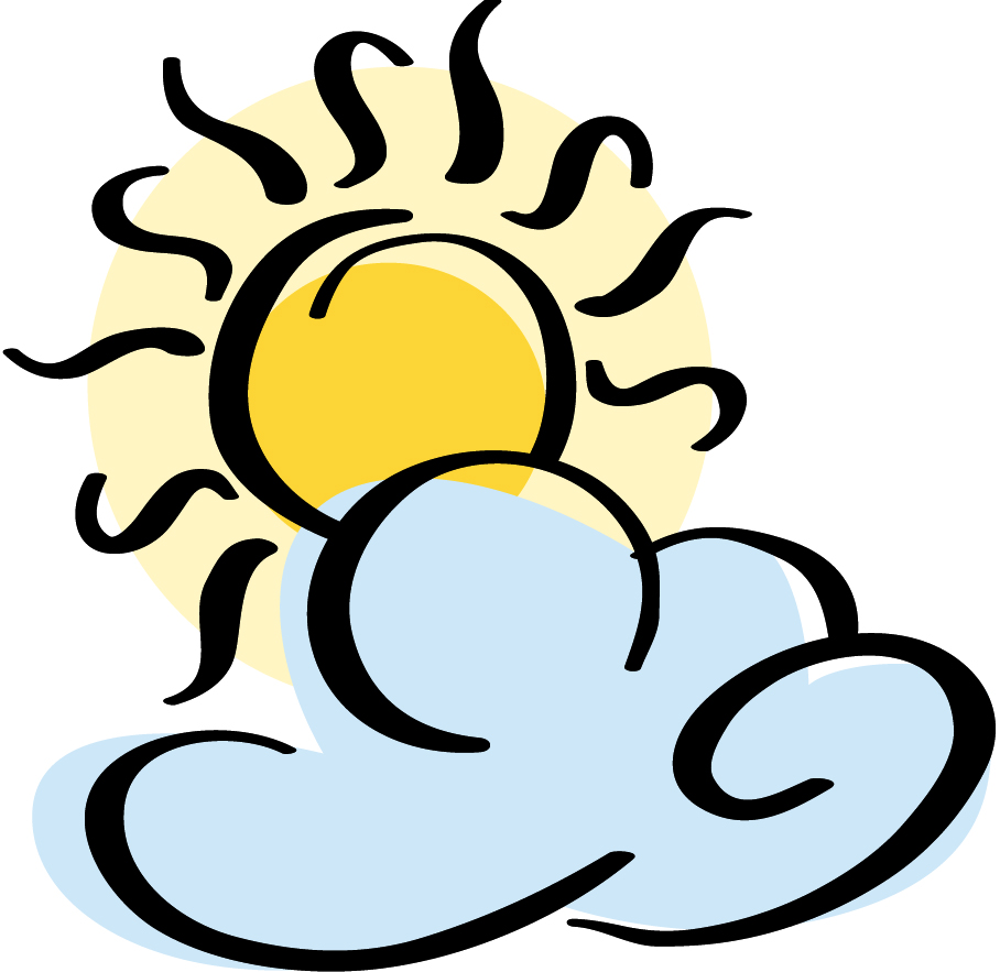 Partly Sunny Clipart - Clipart Kid
