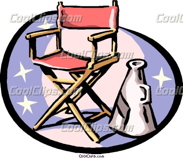 Director Clipart Director S Chair And Megaphone Coolclips Arts0368 Jpg