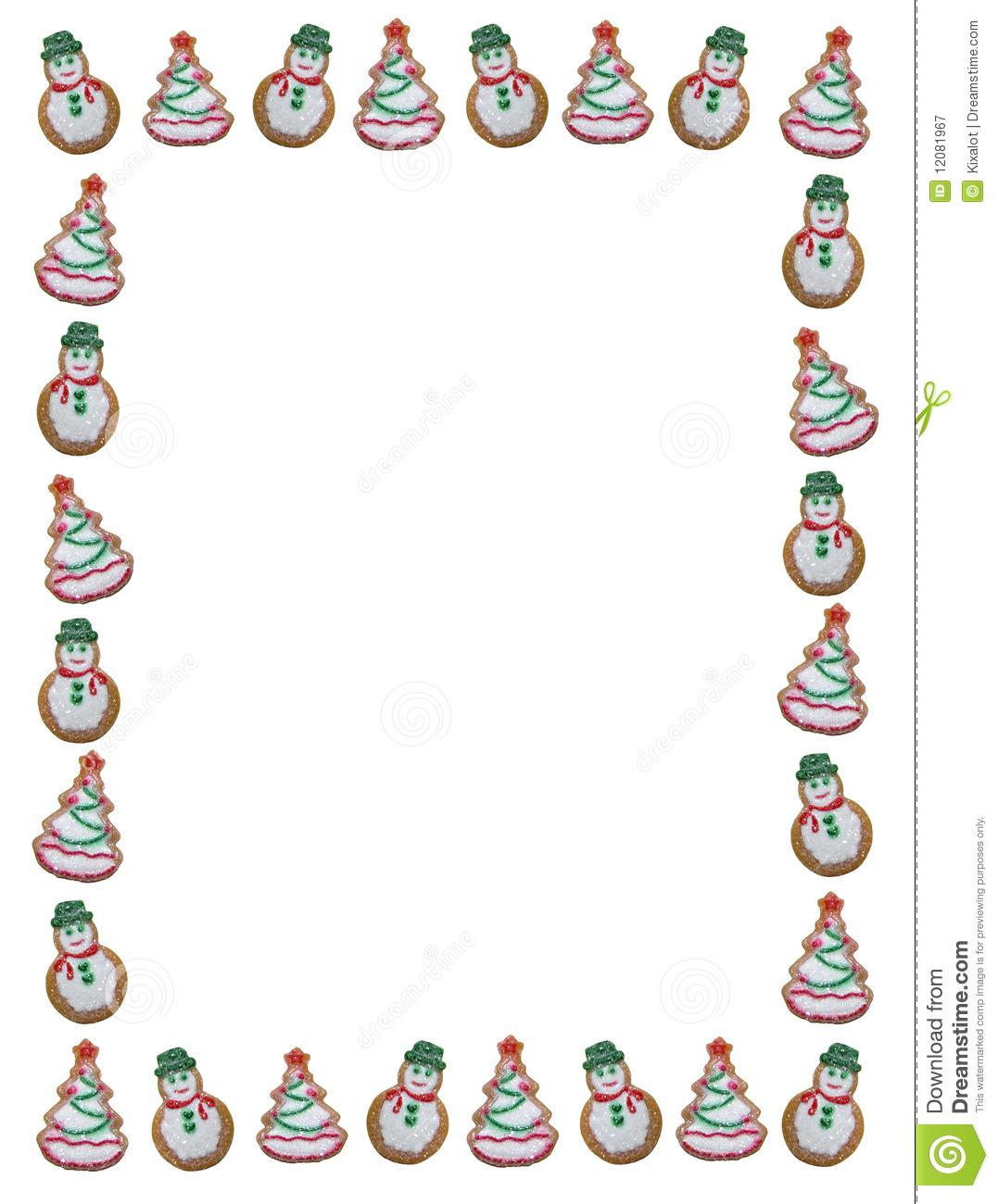 free christmas cookie borders clip art - photo #4