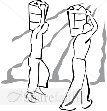 Field Workers In Black And White   Harvest Day Clipart