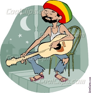 Guitar Player Vector Clip Art