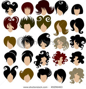 Hairstyles Clipart On Trendy Hair Styles For Women Clip Art Image