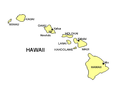 Hawaii Map   Powerpoint Maps