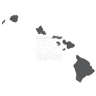 Hawaii Map Silhouette Download Royalty Free Vector Clipart  Eps