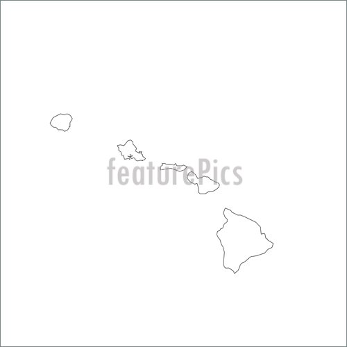 Illustration Of Blank Hawaii Map  Clip Art To Download At Featurepics