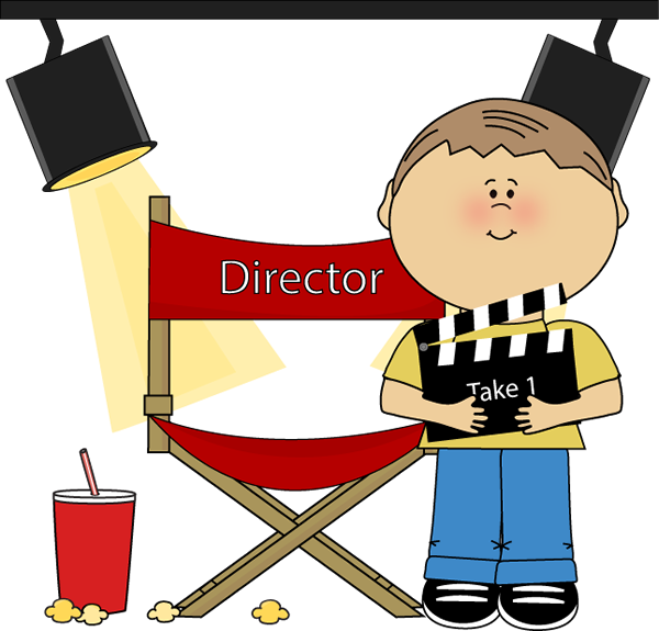 Kid Movie Director Clip Art Image   Kid Movie Director On A Movie Set
