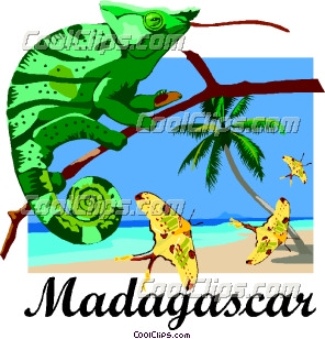 Madagascar Postcard Design Clip Art