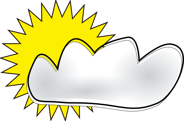 Partly Cloudy Clip Art At Clker Com   Vector Clip Art Online Royalty