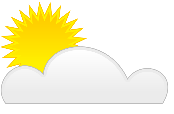 Partly Cloudy Clip Art   Images And Article Update