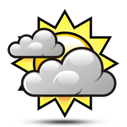 Clip Art Cloudy Clipart partly cloudy clipart kid symbol