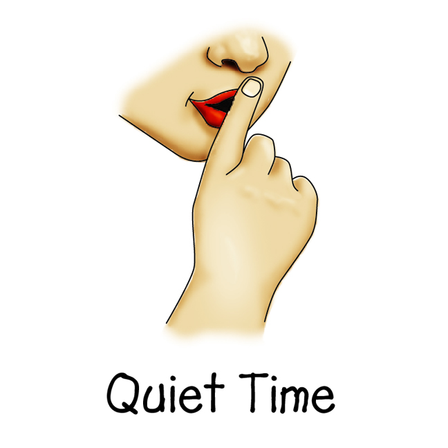 Quiet Time Clipart - Clipart Kid
