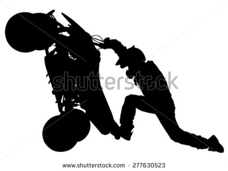 Silhouettes Athletes Atv During Races On White Background   Stock