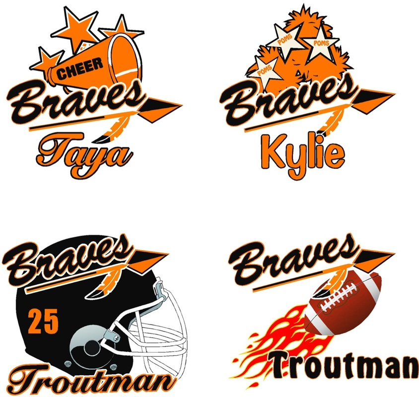Spirit Wear   Chanooka Braves Youth Football   Cliparts Co