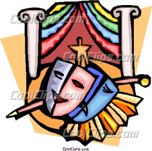 Theatre Masks And Stage Clip Art