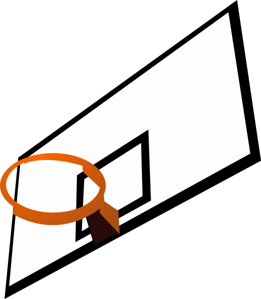 Basketball Court Clipart  Basketball Rim Clip Art