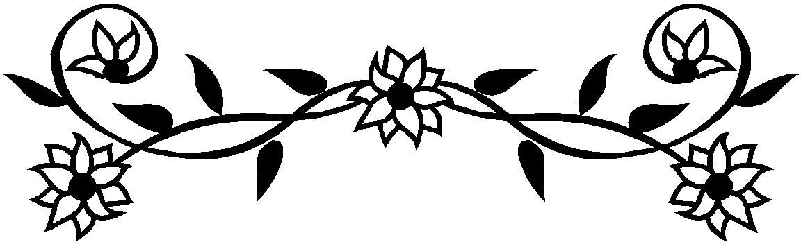 Black And White Flower Border Clipart Dt76xent9 Jpeg