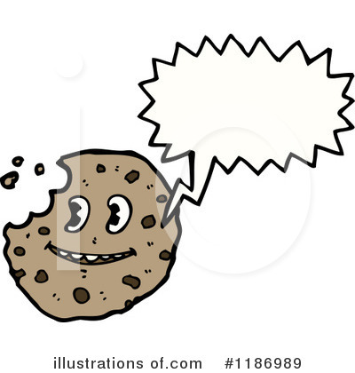 Black And White Tray Of Chocolate Chip Cookies Royalty Free Clipart