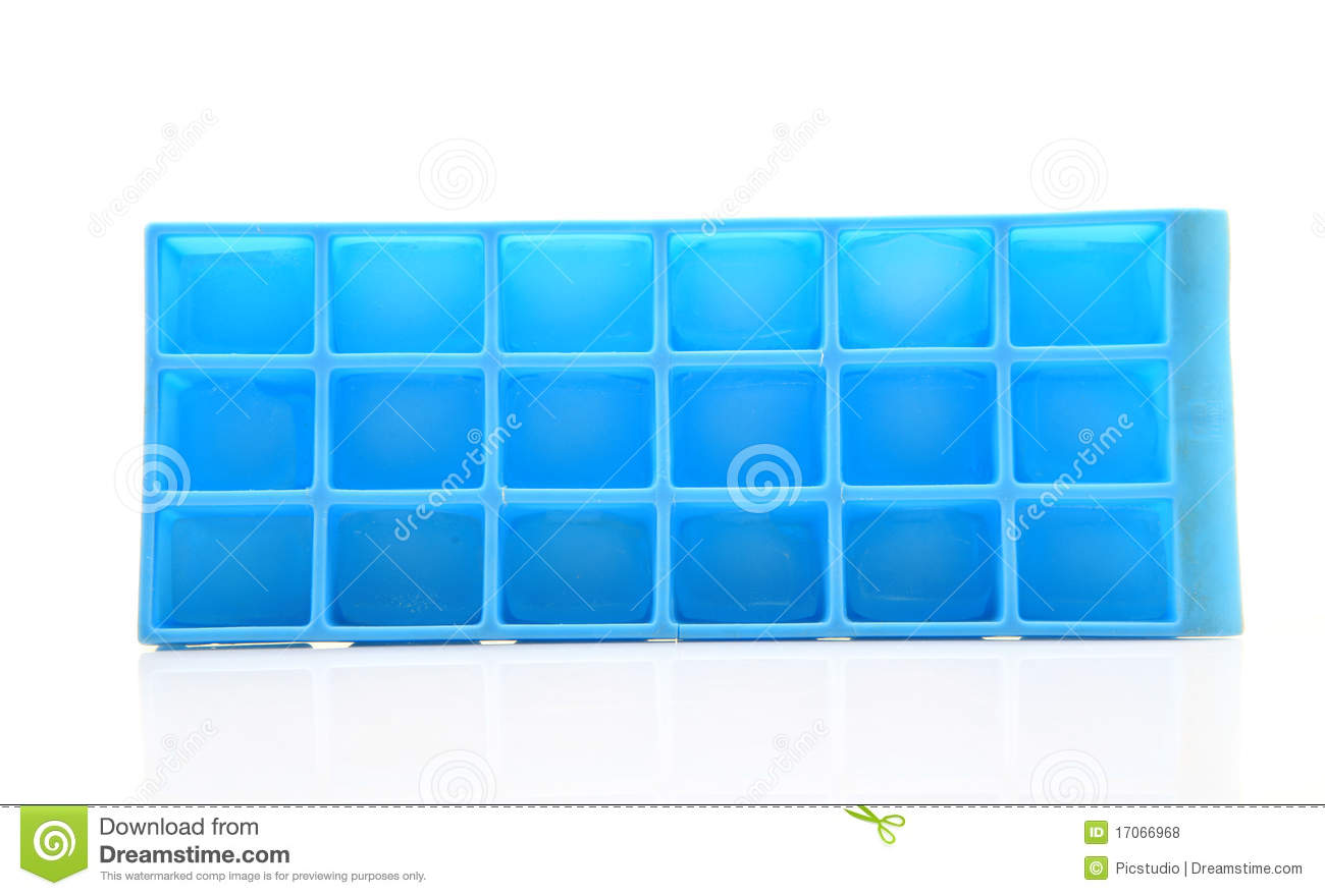 Blue Plastic Ice Cube Tray