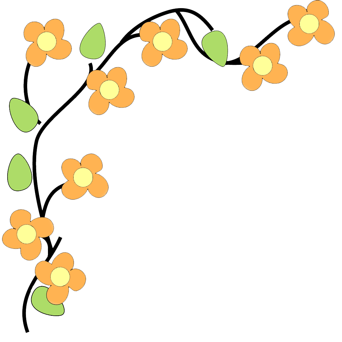 Border With Flowers Png