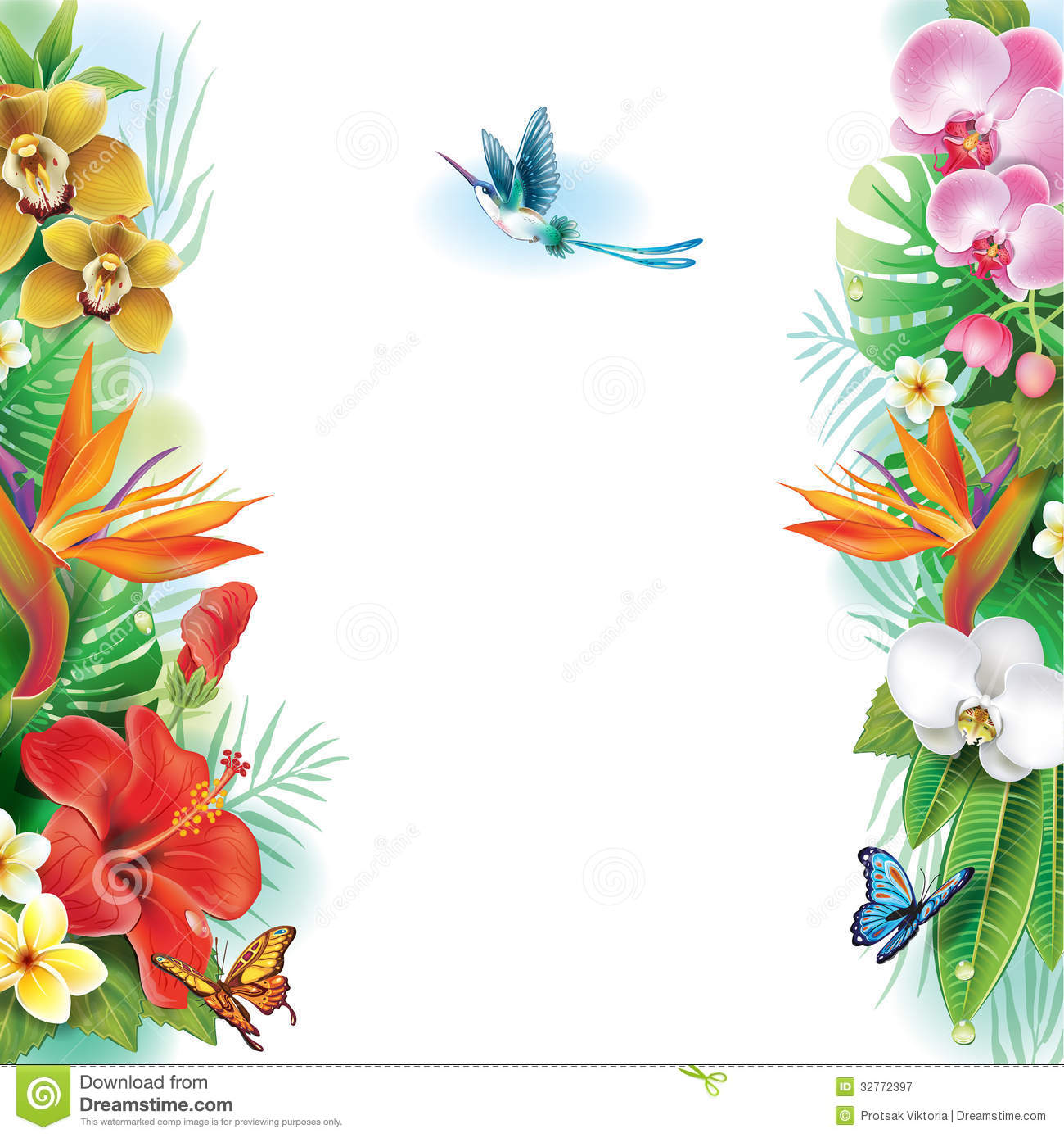 Flower Border Clipart Clipart Suggest