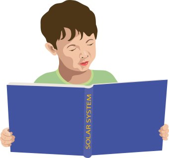 Reading A Book Clipart - Synkee