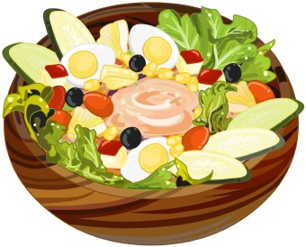Clip Art Salad Clip Art salad clipart kid clip art of a lettuce tomato cucumber and egg in striped