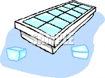 Clipart 0511 1204 0511 1228 Ice Cube Tray With Ice Cubes Clipart
