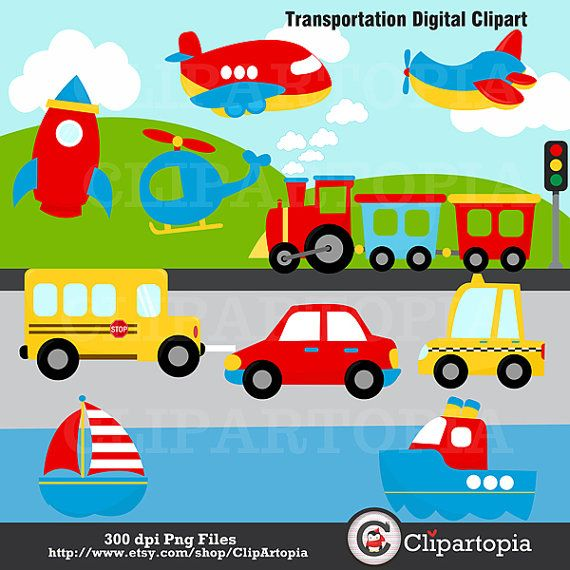 Cute Transportation Clipart - Clipart Kid