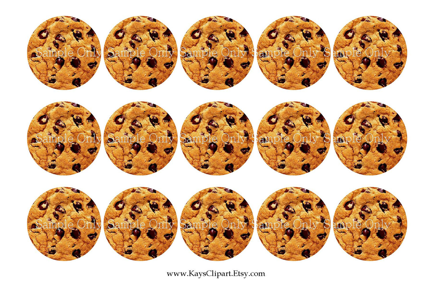 Displaying 17  Images For   Chocolate Chip Cookies Clipart