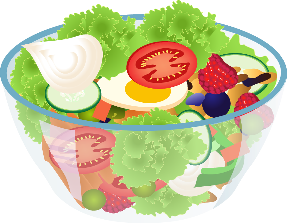 Free Bowl Of Salad Clip Art