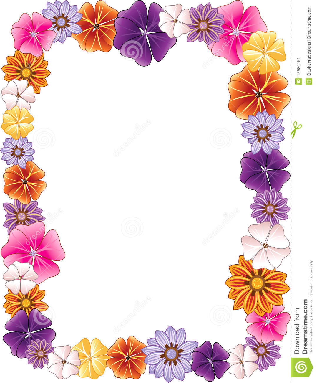 the gallery for gt hawaiian flower top border