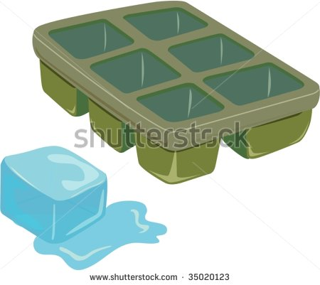 Ice Cube Stock Vector Clipart Melting Blue Ice Cube Editable Vector