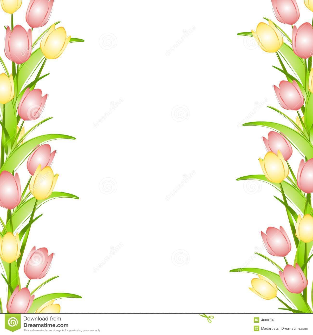Flower Border Clipart - Clipart Kid