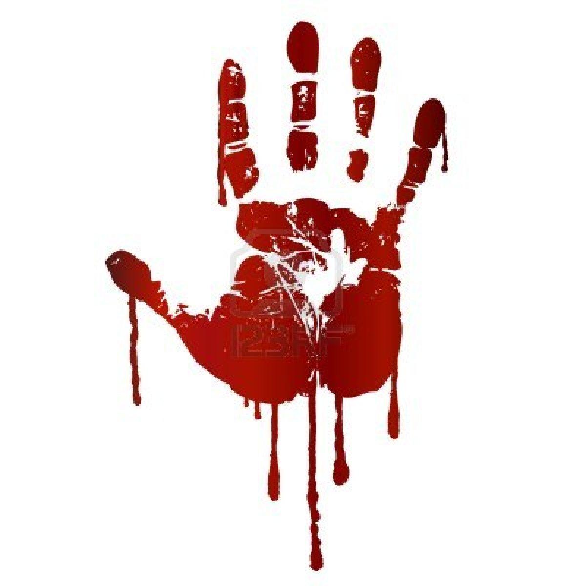 Blood Splatter Hand Clipart - Clipart Kid
