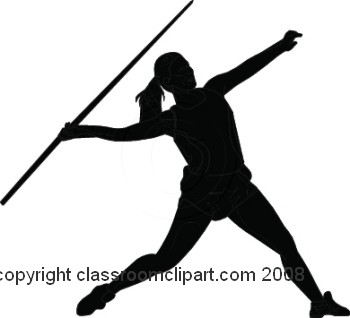 Silhouettes   Javelin Silhouette   Classroom Clipart