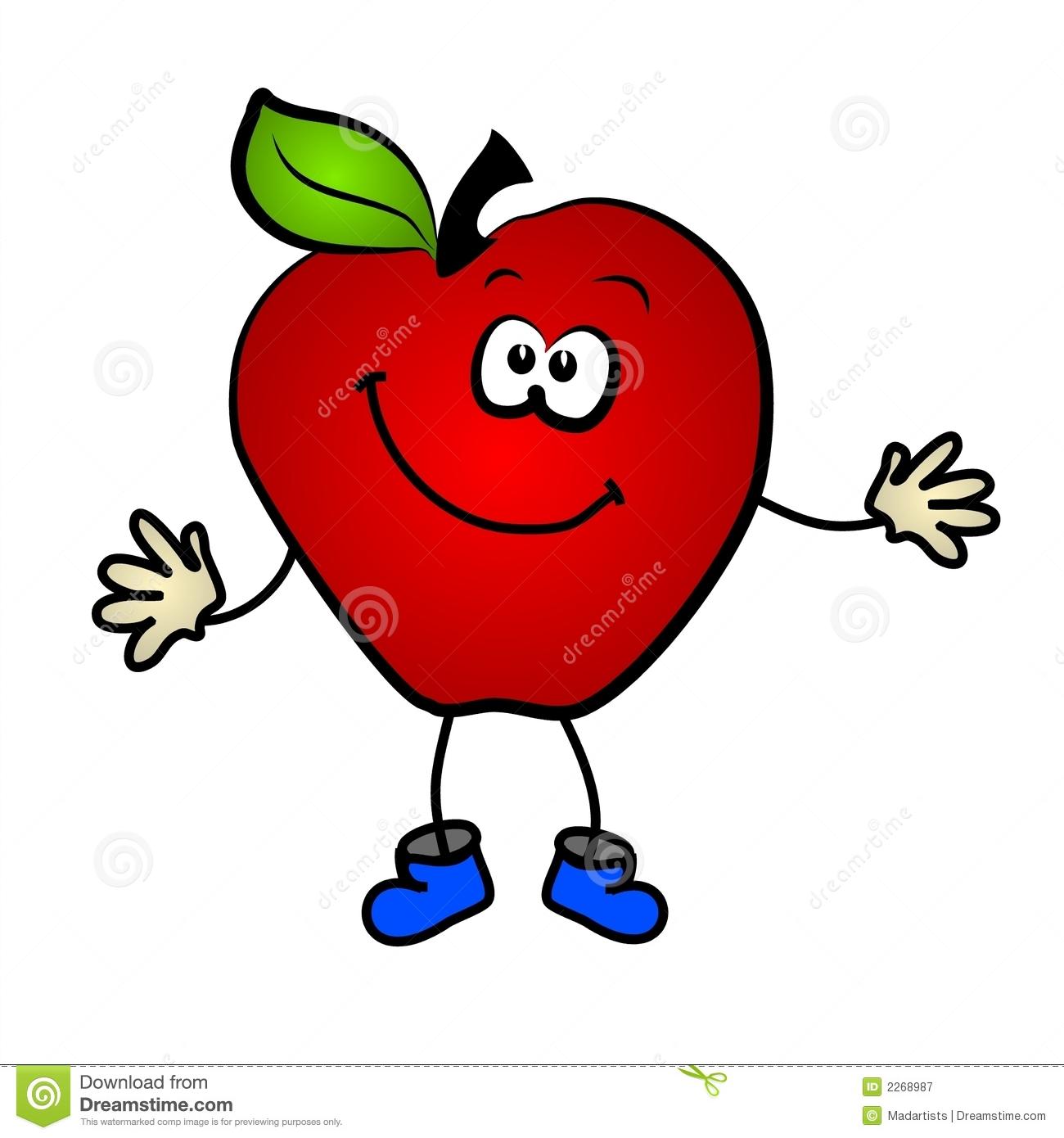 free smiling apple clipart - photo #3