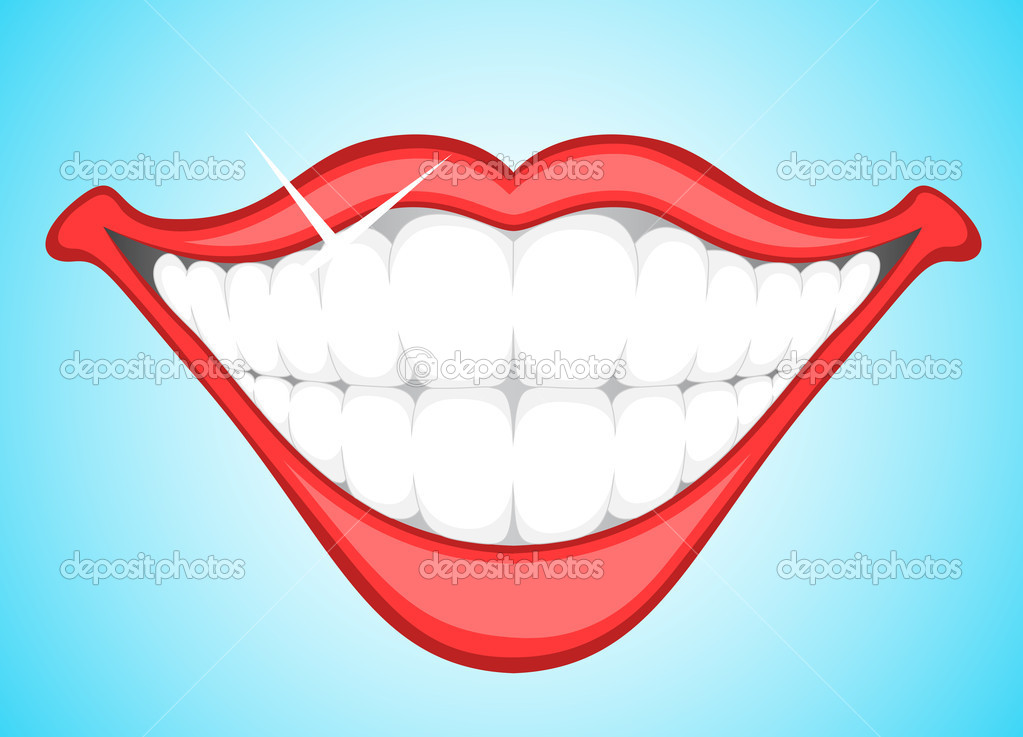 Smiling Teeth Clip Art   Stock Vector   Baavli  9787901