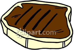 Steak Clipart Big Cooked Steak Royalty Free Clipart Picture 081013