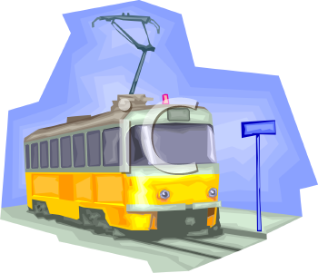 Trolley Clipart 0511 0907 0706 2233 Electric Trolley Car Clipart Image